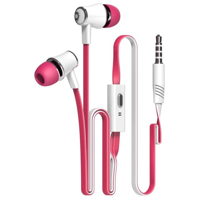Colorful Flexible Hi Fi In Ear Earphones with Microphone